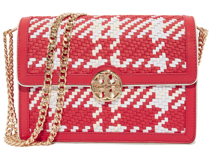 Tory BurchTory Burch Duet Woven Leather Shoulder Bag