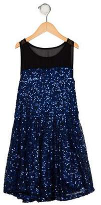 Flowers by Zoe Girls' Sleeveless Sequin Dress