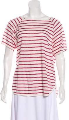 Frame Linen Short Sleeve Top