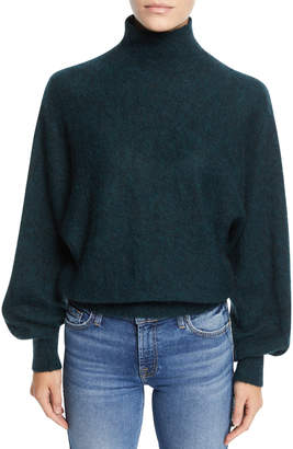 7 For All Mankind Mock-Neck Wool-Blend Pullover Sweater