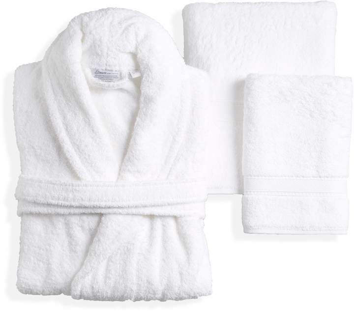 Linum Home Textiles White Terry Towel Set with Terry Bathrobe (5 PC)