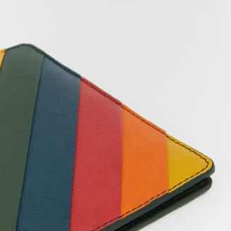 Warehouse Rainbow Leather Passport Cover