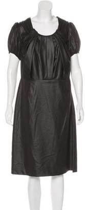 Magaschoni Coated Midi Dress w/ Tags