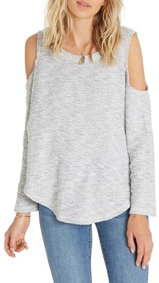 Billabong Surprise Me Cold Shoulder Fleece Top $59.95 thestylecure.com
