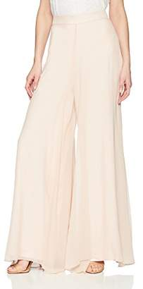 Nicole Miller Women's Spring Solids Wide Leg Pants