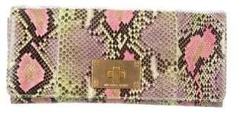 Michael Kors Snakeskin Envelope Clutch - ANIMAL PRINT - STYLE