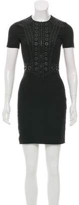 Givenchy Eyelet Mini Dress w/ Tags Black Eyelet Mini Dress w/ Tags