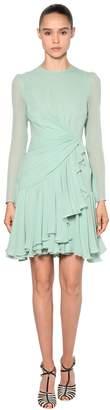 Giambattista Valli Draped Silk Georgette Dress