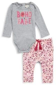 Jessica Simpson Two-Piece Crewneck Bodysuit & Drawstring Pants Set