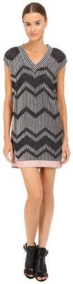 M Missoni Bicolor Mesh V-Neck Dress Women's Dress