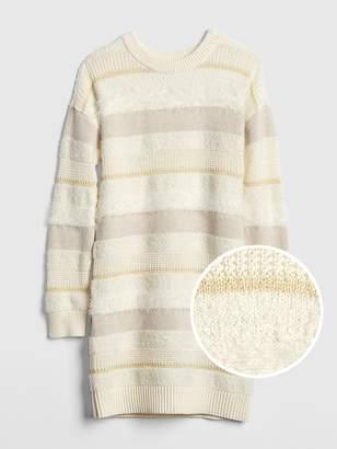 Gap Stripe Textured Sweater Dress