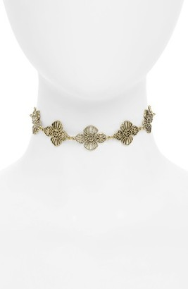 Junior Women's Girly Floral Chain Choker $15 thestylecure.com