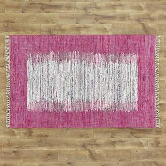 Birch Lane Kids Static Hand-Woven Wool Pink/White Area Rug Rug