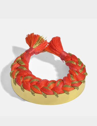 Aurelie Bidermann Copacabana Bracelet in Geranium 18K Gold-Plated Brass
