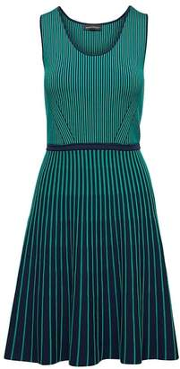 Banana Republic Petite Stripe-Knit Fit-and-Flare Dress