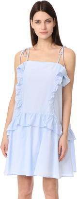 Moon River Ruffle Dress $88 thestylecure.com