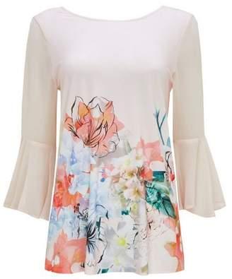 Wallis Blush Floral Print Top