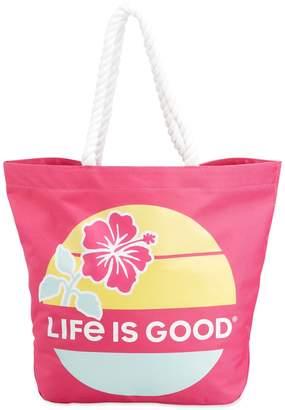 Life is Good Sunny Day Hibiscus Sun Beach Bag