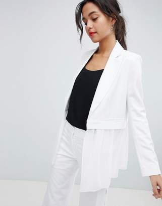 French Connection Sheer Panel Tailored Blazer