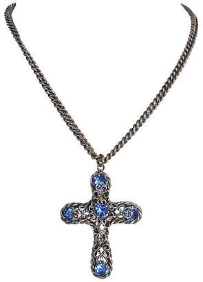 One Kings Lane Vintage Napier Cross Pendant Necklace - 1956 - Carrie's Couture