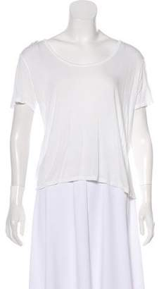 The Row Silk-Trimmed Scoop Neck T-Shirt