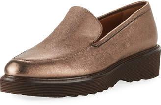 Aquatalia Kelsey Metallic Platform Loafers
