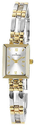 Anne Klein Two tone rectangular ladies dress watch with large link bracelet