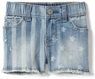 Stretch stars & stripes shorty shorts $29.95 thestylecure.com