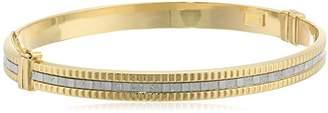 10k Italian Baguette Glitter Bangle Bracelet