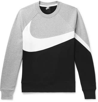 825b2d22 Nike Logo-Print Loopback Cotton-Blend Jersey Sweatshirt