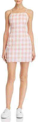 Aqua Gingham Tie-Back Dress - 100% Exclusive