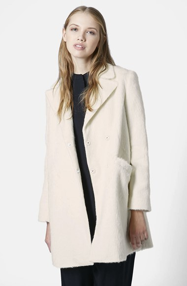 Topshop 'Molly' Double Breasted Swing Coat
