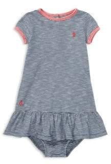 Ralph Lauren Baby's Two-Piece Cotton Drop-Waist T-Shirt Dress and Bloomers Set