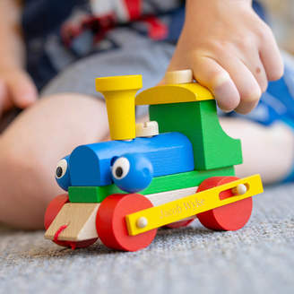 Meenymineymo Personalised Wooden Train Take Apart And Pull Along Toy