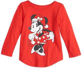 Disney's Minnie Mouse Toddler Girl Christmas Graphic Tee by Family Fun