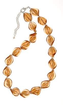 Factory The Jewellery Murano Style Caramel Twist Glass Bead Necklet of 39cm +6cm Extender