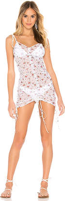 For Love & Lemons Linda Rouched Coverup