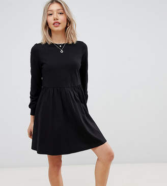 Asos DESIGN Petite long sleeve cotton smock dress