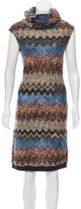 Peter Som Funnel Neck Knit Dress