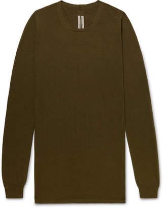 Rick Owens Slim-Fit Virgin Wool Sweater - Men - Army green