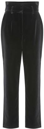 Dolce & Gabbana High-rise velvet pants