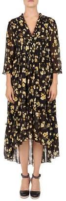 The Kooples Golden Leaves Midi Dress