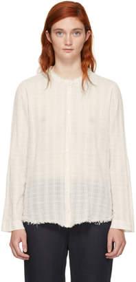 Raquel Allegra Off-White Plaid Gauze Shirt