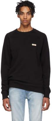 Nudie Jeans Black Logo Samuel Sweatshirt
