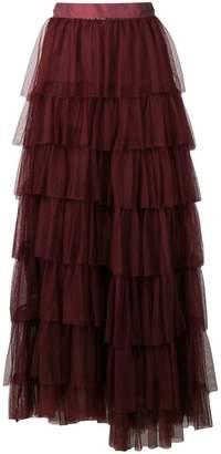 Forte Forte sheer layered skirt