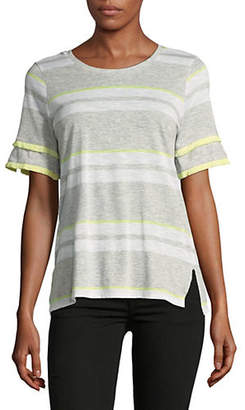 Vince Camuto Striped Short-Sleeve Top