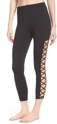 Women's Zella Lace It Up Capris $65 thestylecure.com