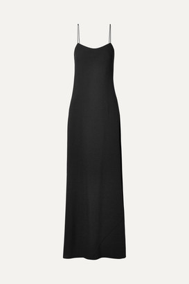 The Row Ebbins Crepe Maxi Dress - Black