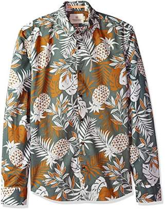 Scotch & Soda Men's All-Over Printed Cotton Voile Shirt