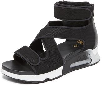 Ash Lips Demi Wedge Sandals $198 thestylecure.com